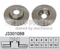 DISC FRANA NIPPARTS J3301088