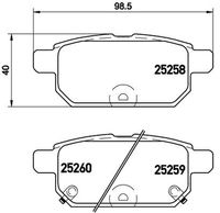 SET PLACUTE FRANA FRANA DISC BREMBO P 79 029