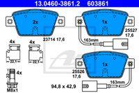 SET PLACUTE FRANA FRANA DISC ATE 13.0460-3861.2