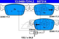 SET PLACUTE FRANA FRANA DISC ATE 13.0460-7314.2
