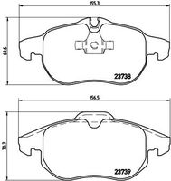SET PLACUTE FRANA FRANA DISC BREMBO P 59 043