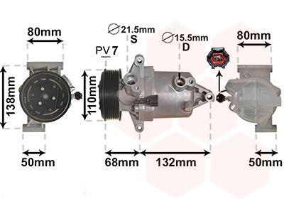 VAN WEZEL Compressor, airconditioning (1301K703)