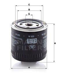 MANN-FILTER Hydraulische filter, automatische transmissie (W 920)