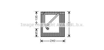 AVA QUALITY COOLING Verdamper, airconditioning (VNV242)