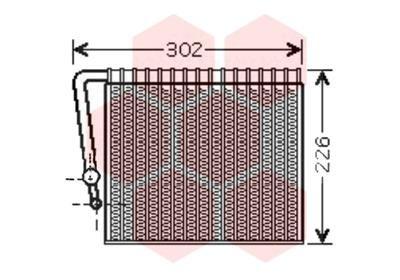 VAN WEZEL Verdamper, airconditioning (4300V356)