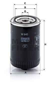 MANN-FILTER Hydraulische filter, automatische transmissie (W 940)