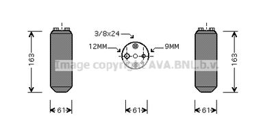 AVA QUALITY COOLING Droger, airconditioning (DND058)