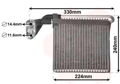 VAN WEZEL Verdamper, airconditioning (1800V459)