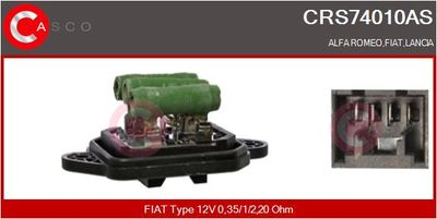 CASCO Weerstand, interieurventilator (CRS74010AS)