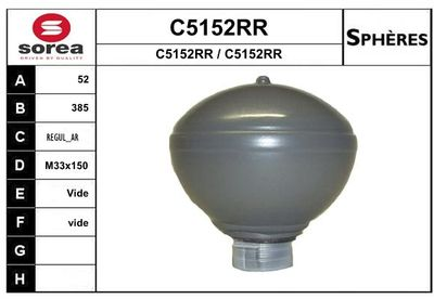 SNRA Drukaccumulator, vering/demping (C5152RR)