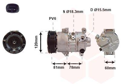 VAN WEZEL Compressor, airconditioning (5300K581)