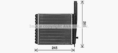 AVA QUALITY COOLING Kachelradiateur, interieurverwarming (LA6029)