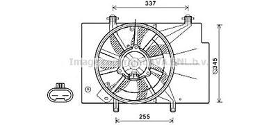 AVA QUALITY COOLING Koelventilatorwiel (FD7582)
