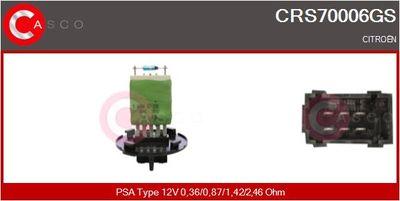 CASCO Weerstand, interieurventilator (CRS70006GS)