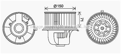 AVA QUALITY COOLING Elektrische motor, Interieurventilatie (VN8406)