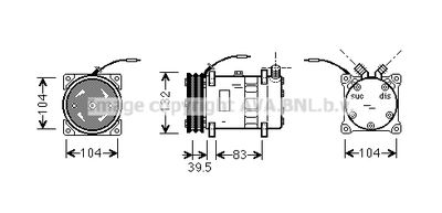AVA QUALITY COOLING Compressor, airconditioning (UVAK034)