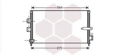 VAN WEZEL Condensor, airconditioning (25005223)