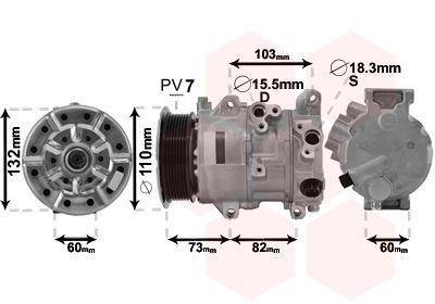 VAN WEZEL Compressor, airconditioning (5300K685)