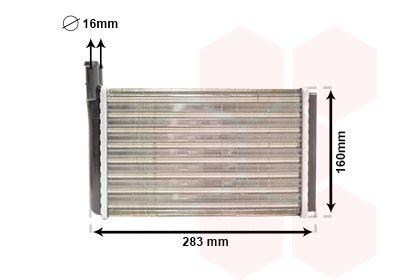 VAN WEZEL Kachelradiateur, interieurverwarming (58006061)