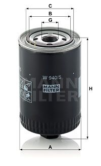 MANN-FILTER Hydraulische filter, automatische transmissie (W 940/5)