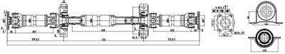 SERCORE Aandrijfas, asaandrijving (32100C)