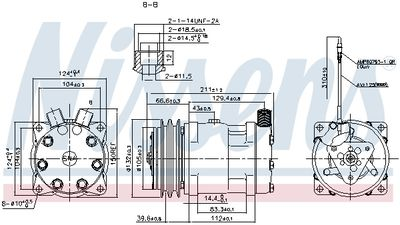 NISSENS Compressor, airconditioning ** FIRST FIT ** (89849)