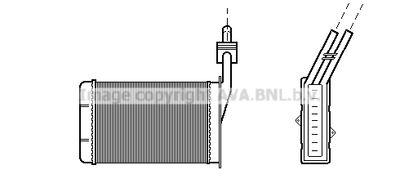 AVA QUALITY COOLING Kachelradiateur, interieurverwarming (RT6101)