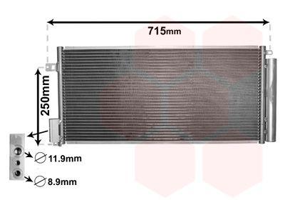 VAN WEZEL Condensor, airconditioning (17005310)