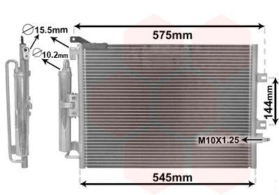 VAN WEZEL Condensor, airconditioning (43005417)