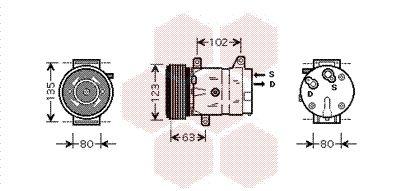 VAN WEZEL Compressor, airconditioning (4300K440)