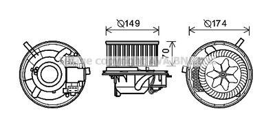 AVA QUALITY COOLING Elektrische motor, Interieurventilatie (VN8341)