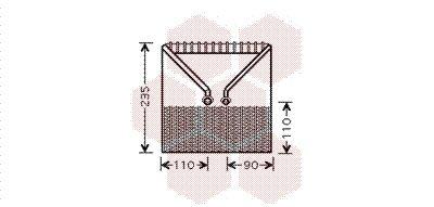 VAN WEZEL Verdamper, airconditioning (3700V414)