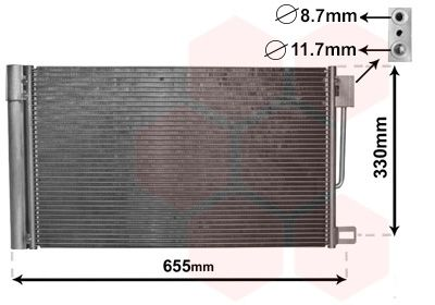 VAN WEZEL Condensor, airconditioning (17005314)
