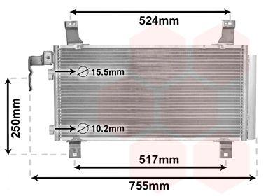 VAN WEZEL Condensor, airconditioning (27005157)