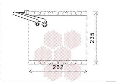 VAN WEZEL Verdamper, airconditioning (5900V157)