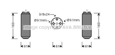 AVA QUALITY COOLING Droger, airconditioning (DND037)