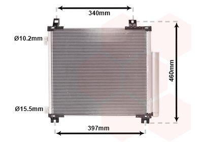 VAN WEZEL Condensor, airconditioning (53005578)