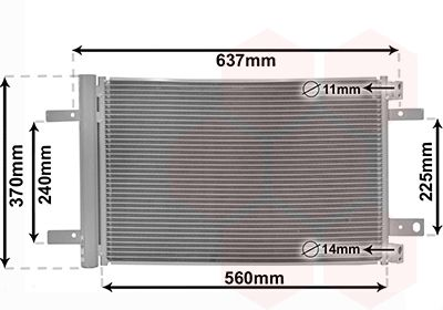 VAN WEZEL Condensor, airconditioning (09015702)