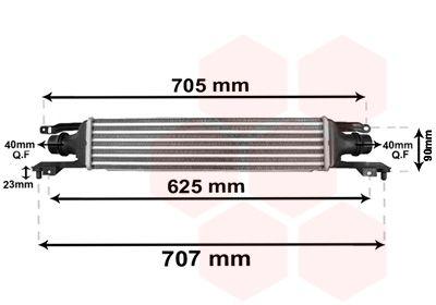 VAN WEZEL Intercooler, inlaatluchtkoeler (37004420)