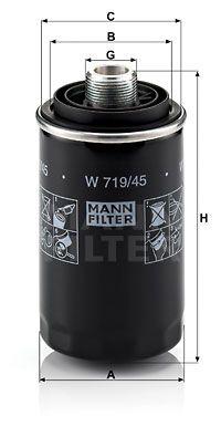 MANN-FILTER Oliefilter (W 719/45)