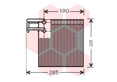 VAN WEZEL Verdamper, airconditioning (1300V257)