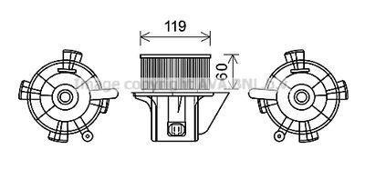 AVA QUALITY COOLING Elektrische motor, Interieurventilatie (CN8299)