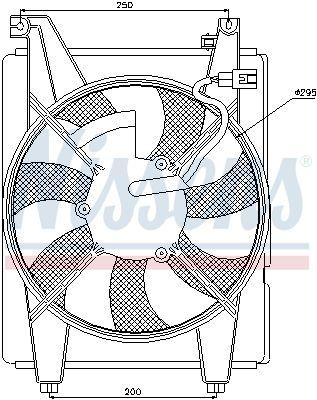 NISSENS Koelventilatorwiel (85088)