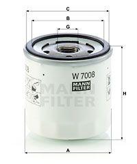 MANN-FILTER Oliefilter (W 7008)