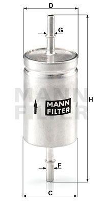 MANN-FILTER Brandstoffilter (WK 512)