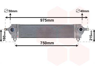 VAN WEZEL Intercooler, inlaatluchtkoeler (13004333)