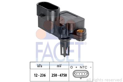 FACET MAP sensor Made in Italy - OE Equivalent (10.3109)