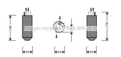 AVA QUALITY COOLING Droger, airconditioning (DWD029)