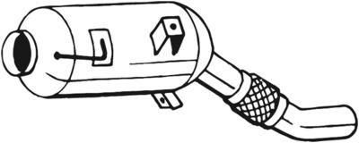 BOSAL Roetfilter, uitlaatinstallatie (097-314)
