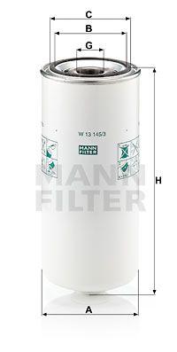 MANN-FILTER Oliefilter (W 13 145/3)